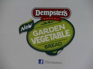 Dempster's Garden Vegetable Bread: - Read the small print: every two (two, not one) slices contain half a cup of vegetables. Just how little is that? The label on it says those vegetables are only carrots and pumpkin. An average metric cup of solids is 135 g. So each slice only contains about 34 g of pumpkins and carrot. Trying to create the impression that eating this will make up for not eating regular vegetables is not quite honest. This is a typical example of using misdirection to make the viewer focus on something other than the core of the product. A similar tactic was adopted by Coca Cola for their Glaceau Vitamin Water, drawing attention to the so-called health benefits, and failing to point out the 8 teaspoons of sugar (per 20-ounce serving) the drinks contained.