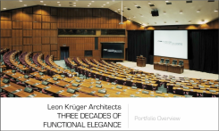 First slide of definitive presentation of Leon Krüger's architectural portfolio