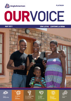 Printed newsletter for Anglo Platinum
