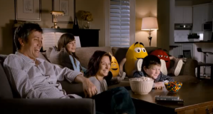 "M&Ms: My single biggest gripe is the anthropomorphisation of food in commercials. If you turn food into humans, it's just makes me think of cannibalism. In the M&M ads, I think they get this - and that it makes the whole premise questionable. In one ad, the M&Ms sit and watch TV while the humans behind them wonder if their little legs and shoes are also made of chocolate - and are edible. In a 2010 ad, the ""living"" M&Ms watch TV while the people with them eat a big bowl of …yep, M&Ms."