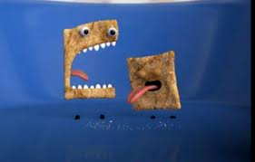 General Mills' Cinnamon Toast Crunch is undeniably cannibalistic. The squares have faces and big mouths and teeth and they eat each other, before we eat them.
