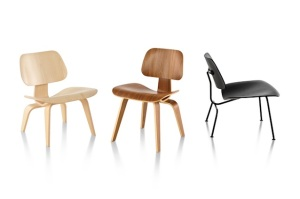 Some of the famous Eames designs for a plywood chair. Recognize them?