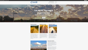 CoLAB PS website on wordpress