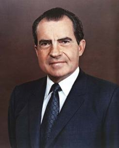 Former President Richard M. Nixon, Brittanica.com. On November 17, 1973, President Richard Nixon infamously denied any involvement in the Watergate scandal with his now timeless defense. Thing is, he was.