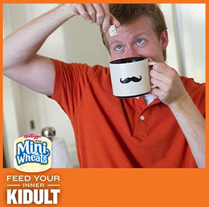 "Mini-Wheats ""kidult"" advertisement"
