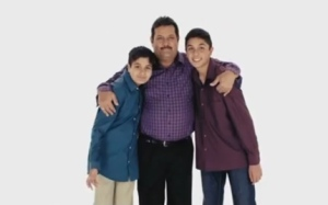 I like this group where the father poses, stiff as a rod, with his dour-looking kids. In the next scene, he playfully pulls their ears, still with a dead-straight face. It made me smile. Canada Protection Plan's in-house agency, called The Media Cottage, produces the ads.
