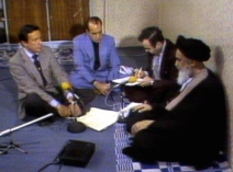 "In a memorable interview from 1979, Wallace got the stoic Ayatollah Khomeini to smile during the Iranian hostage crisis when he asked him what he thought about being called a ""lunatic"" by Egyptian President Anwar Sadat. The Ayatollah answered by correctly predicting that Sadat would be assassinated. CREDIT: CBS"