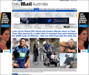 1 Daily Mail Australia edition, home page