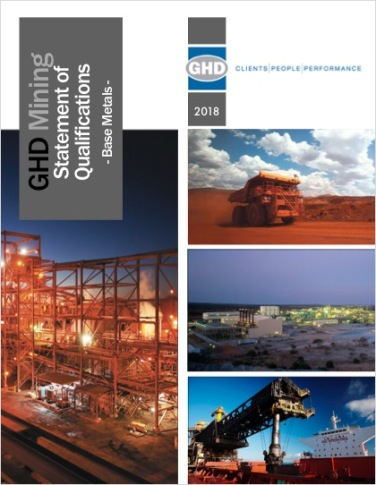 GHD Base Metals brochure cover