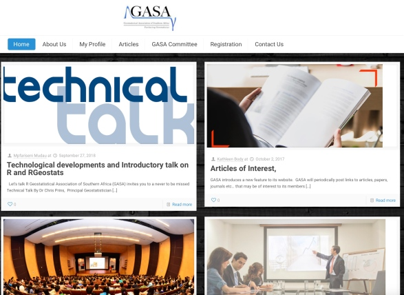Current GASA website (https://gasa.org.za)