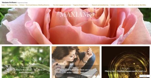 Perfume website and blog (www.maxiamoperfumes.com)