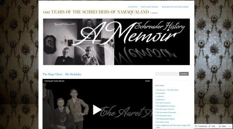 Genealogy website (www.schreuderhistory.wordpress.com)